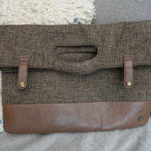 Tweed Clutch Bag with Plaid lining - PKG Toronto